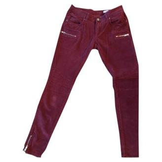 Anine Bing Burgundy Jeans for Women