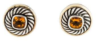 David Yurman Citrine Round Earrings