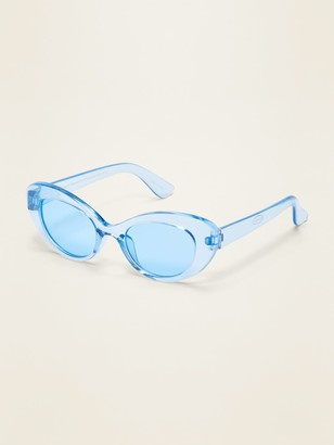 Old Navy Clear-Blue Cat-Eye Sunglasses for Girls