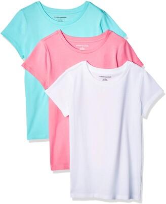 Amazon Essentials Girls' 3-pack Short-sleeve Tee T-Shirt