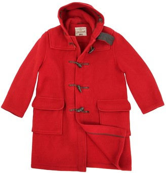 Gloverall Red Wool Coat for Women
