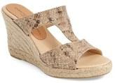 Patricia Green Women's Snake Embossed Wedge Sandal