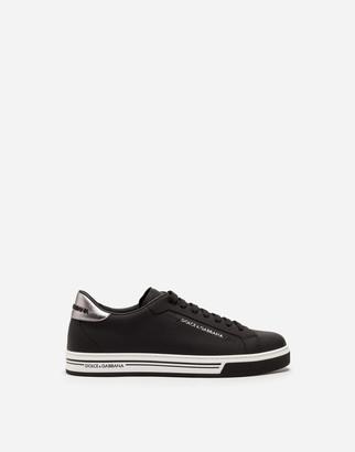 Dolce & Gabbana Rubberized Calfskin Roma Sneakers