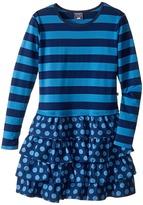 Toobydoo Deep Blue Ruffle Dress (Toddler/Little Kids/Big Kids)