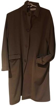 Bonpoint Khaki Wool Coat for Women Vintage
