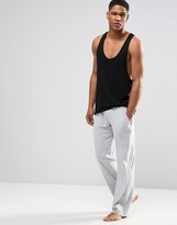 Lacoste Lounge Pants With Logo Waistband In Straight Fit - Grey