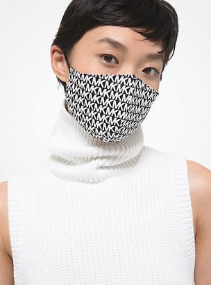 MICHAEL Michael Kors MK Logo Stretch Cotton Face Mask - Charcoal - Michael Kors