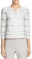 Lafayette 148 New York Tilda Textured Stripe Jacket