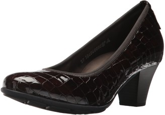 Mephisto Women's Brigita Dress Pump Dark Brown Crocodile 6.5 M US
