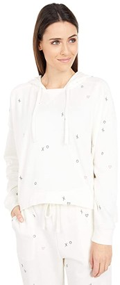 Splendid Embroidered Snowland Hoodie (Ivory) Women's Clothing