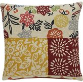 Crate & Barrel Hester Pillow with Feather-Down Insert.