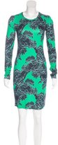 Jonathan Saunders Abstract Print Sheath Dress