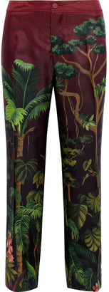 F.R.S For Restless Sleepers Hypnos Printed Silk-twill Straight-leg Pants