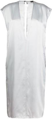 Ann Demeulemeester cap-sleeves silk dress