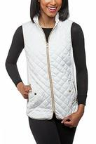 Top It Off White Quilted Vest