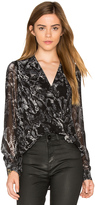 1 STATE Drape Front Blouse