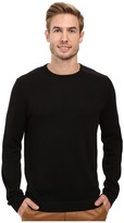 Calvin Klein Cotton Acrylic & Faux Suede Zip Sweater