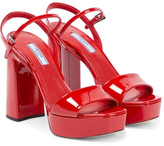 Prada Patent-leather platform sandals