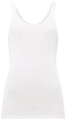 The Upside Boyfriend Ribbed Cotton Tank Top - White