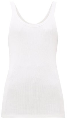 The Upside Boyfriend Ribbed Cotton Tank Top - Womens - White