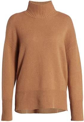 Frame High-Low Cashmere Turtleneck Sweater
