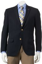 Savile Row Men's Modern-Fit Navy Knit Travel Blazer
