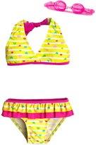 Jump N Splash Girls' Baby Heart TwoPiece Swimsuit w/ Free Goggles (4-6X) - 8143032
