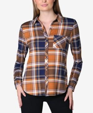 Ultra Flirt Juniors' Cozy Plaid Shirt