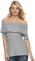 Juicy Couture Women's Marled Off-the-Shoulder Top