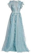 Thumbnail for your product : ZUHAIR MURAD Ruffled Silk Organza Gown