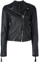 Barbara I Gongini zip up biker jacket