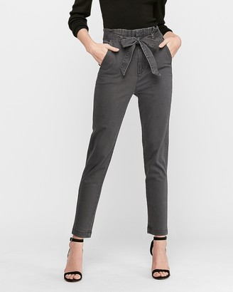 Express High Waisted Paperbag Trouser Pant
