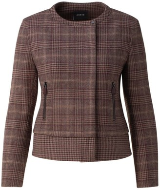 Akris Karamel Cashmere Check Jacket