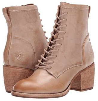 Patricia Nash Sicily (Black Hand Stained Leather) Women's Lace-up Boots