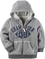 "Carter's Boys 4-8 Marled ""Champion 42"" Football Zip Hoodie"