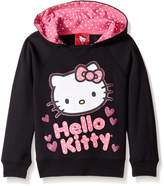 Hello Kitty Big Girls' Hoodie With Varsity Sleeves