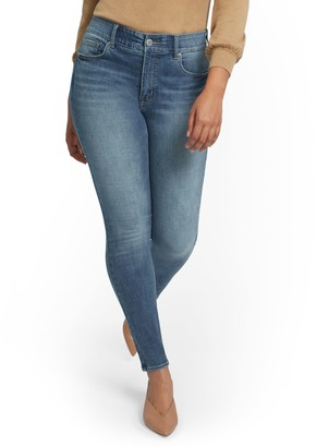 New York & Co. Tall Mya Super High-Waisted Shaping No Gap Super-Skinny Ankle Jeans - Light Wash