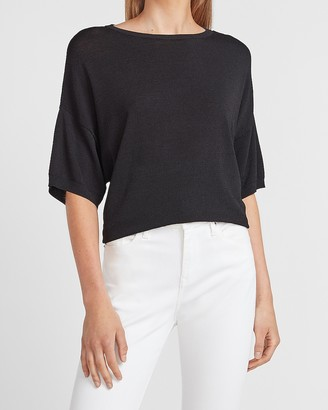 Express Cropped Drop Shoulder Sweater
