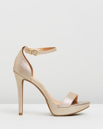 Vizzano - Women's Gold Heeled Sandals - Phoebe Heels - Size One Size, 9 at The Iconic