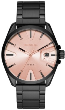 Diesel Men's MS9 Black Stainless Steel Bracelet Watch 43mm