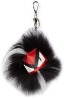Fendi Bug Monster Fur Key Chain, Red/Black