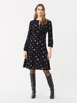 Diane von Furstenberg Andrea Crepe Long-Sleeve Dress
