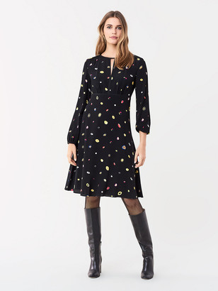Diane von Furstenberg Andrea Crepe Long-Sleeve Dress