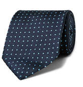 Ermenegildo Zegna 7.5cm Polka-Dot Silk-Jacquard Tie