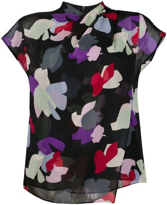 Emporio Armani layered floral print T-shirt