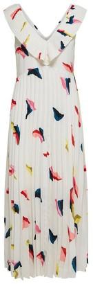 Selected Plisse Midi Dress - 34