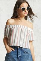 Forever 21 FOREVER 21+ Off-the-Shoulder Boxy Crop Top