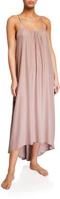 Pour Les Femmes Silk Charmeuse High-Low Slip Gown
