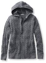 L.L. Bean Double L Cotton Sweater, Zip-Front Hoodie Marled