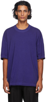 Maison Margiela Blue Resin Garment-Dyed T-Shirt